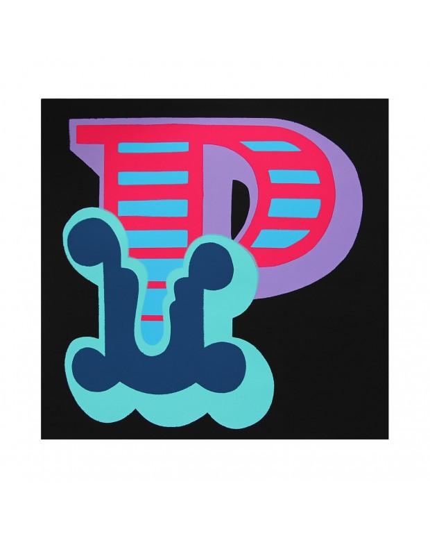 Ben Eine - Letter P, Blue