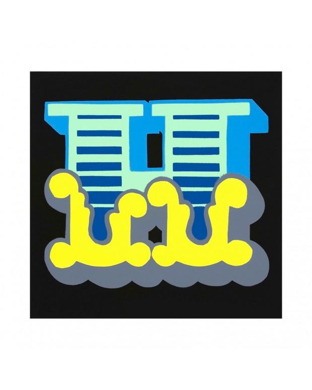 Ben Eine - Letter H, Blue